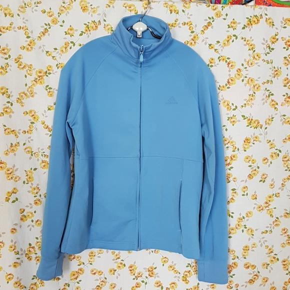 Adidas Light Blue Jacket Size Medium
